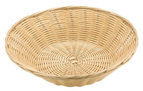 Paderno World Cuisine Splayed Round Polyrattan Bread Basket, 7-1/8-Inch