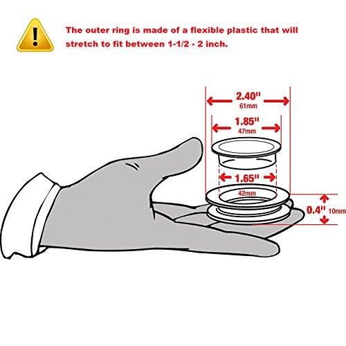 "DGQ 2"" Silicon Umbrella Table Hole Cap - 1 Pack - Patio Table Umbrella Thicker Hole Ring Plug and Cap Set"