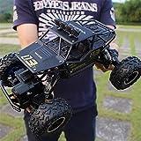 RC Car 1:14 Scale Buggy Rock Climbing 4WD / Anti-Shock Car Rock Crawlers Vehicle 4x4 Monster Truck 8km/h 4CH 2.4G Rock Climbing Car Boys' Gift (Black)