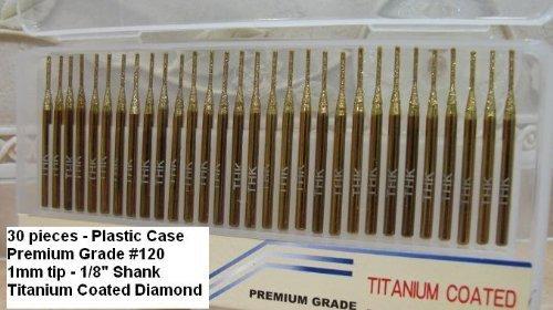 Titanium Coated 1Mm Diamond Drill Bit Set 30Pcs  Jewelry Beach Sea Glass Shells Gemstones Lapidary 30 Pieces