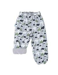 Jan & Jul Fleece-Lined Rain Pants for Baby Toddler Kids