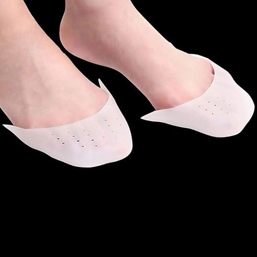 Amazon.com: eDealMax 1 par Blanca transpirable de Gel de silicona de las Mujeres almohadillas Para Los dedos Proteger Caps Cuidado de pies: Health ...