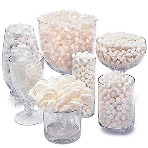 White Candy Kit - Party Candy Buffet Table]()