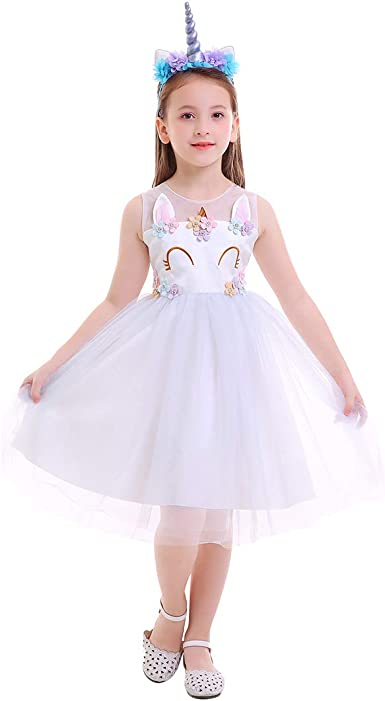 2pcs Girls Kids Princess Costume Fancy Dress up Necklace Cosplay Party Outfit