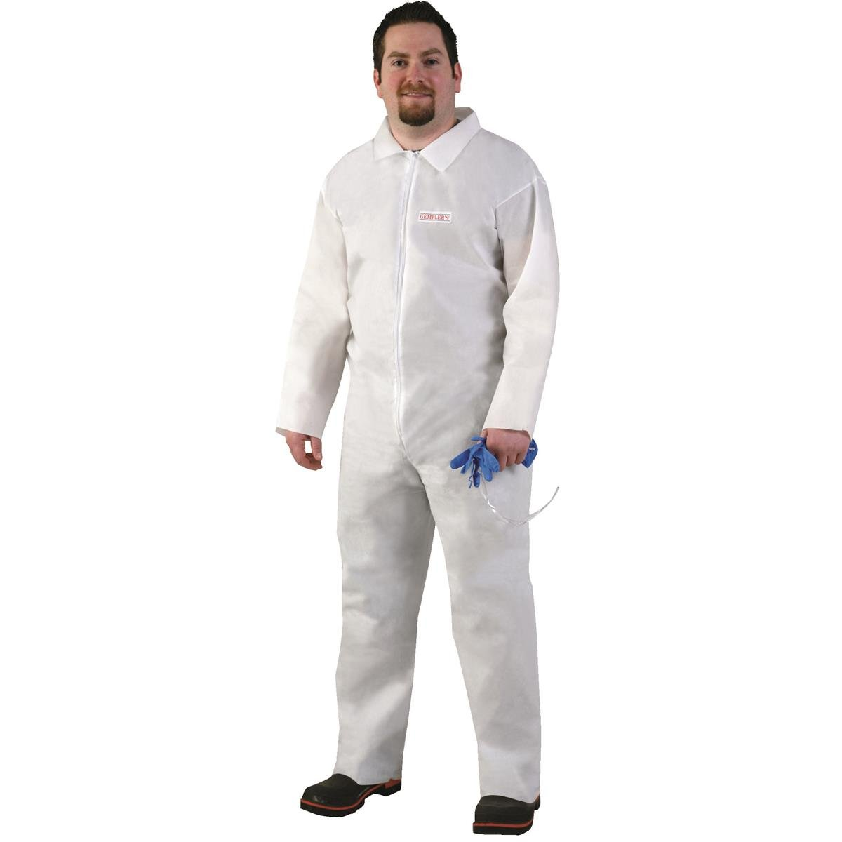 GEMPLER'S UNHOODED General Purpose Advanced Tri-Laminate Breathable Protective Coveralls (Box of 10) (Size 3XL / Color White) For Spray Painting, Fertilizer Handling, OPEN WRISTS AND ANKLES