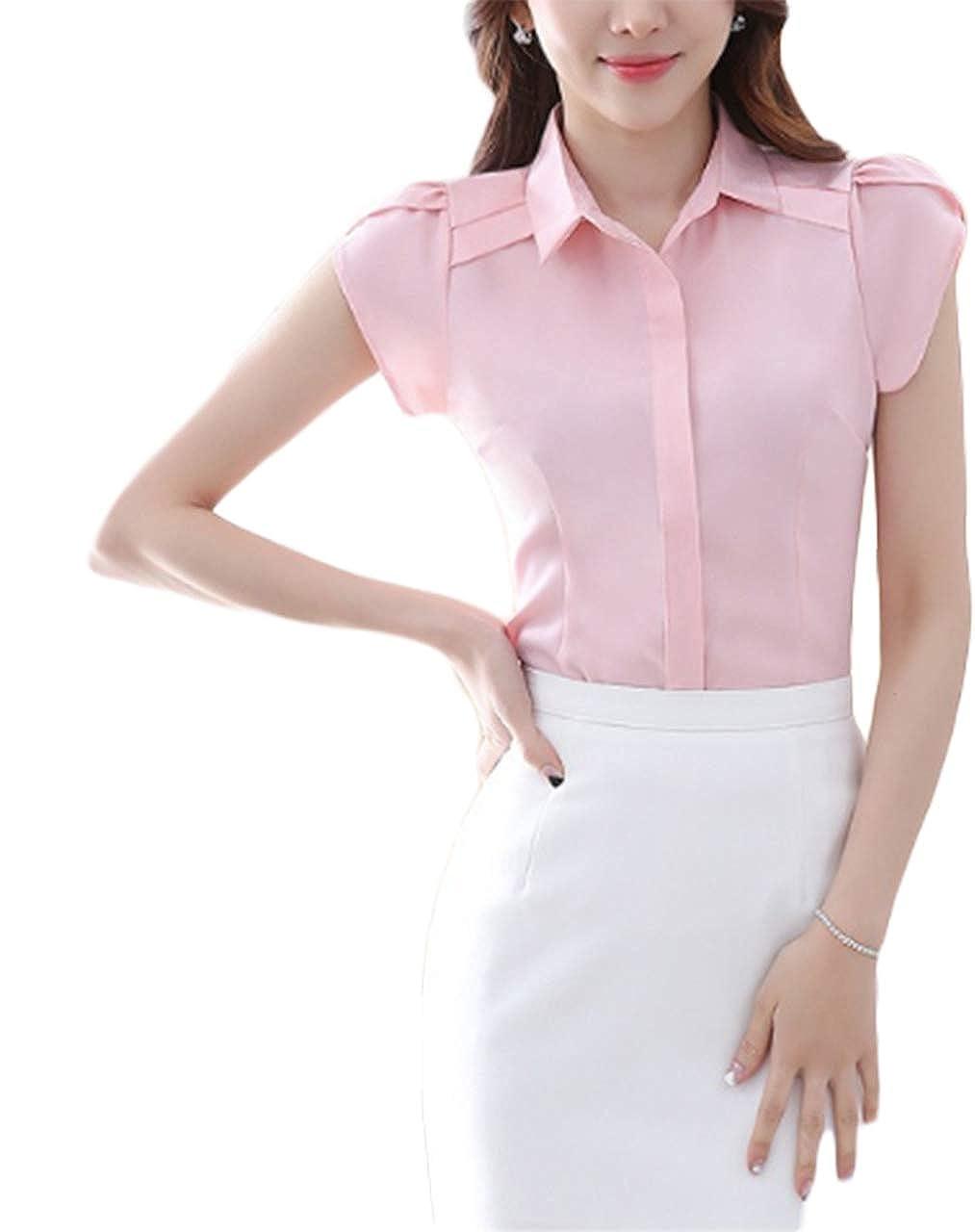 3bd798f3f773 Womens Cotton Half Sleeve Button Up Shirt - DREAMWORKS
