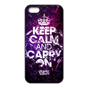 Exclusively for your own phone case-- Design Keep Calm and Carry On 100% TPU Case for iPhone5