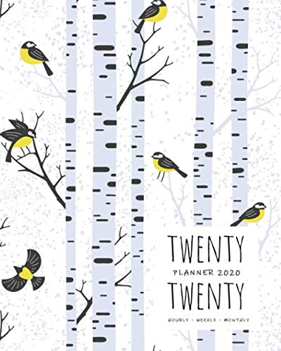 Twenty Twenty, Planner 2020 Hourly Weekly Monthly: 8×10 Large Journal Organizer with Hourly Time Slots   Jan to Dec 2020…