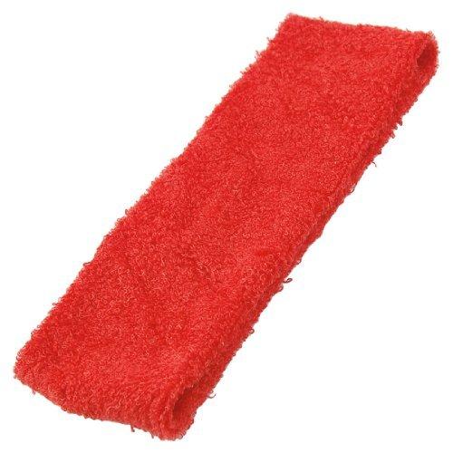 Bandeau Terry (eDealMax 2 Piece Spa Bain Terry élastique Bandeau/cheveux Tie/Bande, Rouge, 0,09 Pound)
