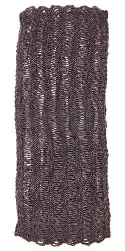Capelli New York Acrylic Marled Iceland Yarn Purl Drop Stitch Loop Scarf Pink Combo One (Drop Stitch Scarf)