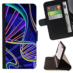 For Samsung Galaxy S4 IV I9500 Science Biology Life Scientist Beautiful Print Wallet Leather Case Cover With Credit Card Slots And Stand Function