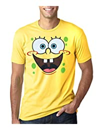 SpongeBob SquarePants Face Adult T-Shirt-Medium Yellow