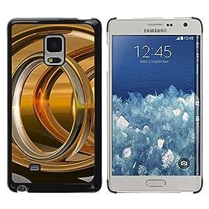 Exotic-Star ( Abstract Gold Ring ) Fundas Cover Cubre Hard Case Cover para Samsung Galaxy Mega 5.8 / i9150 / i9152