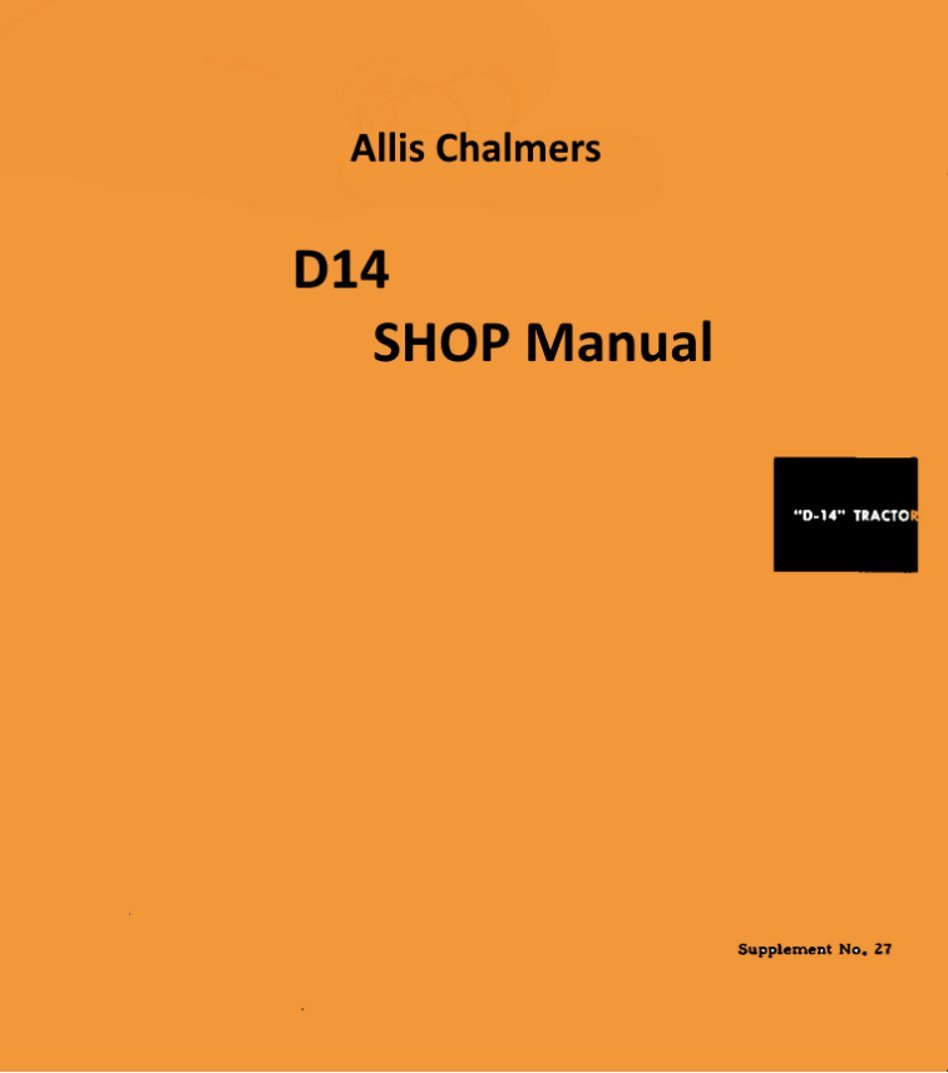 Service Manual D14 Allis Chalmers Garden Tractor Wiring Diagram Pics Outdoor