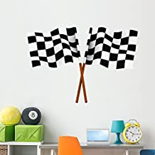 Wallmonkeys WM244409 Finishing Checkered Flag Wall Decal Peel and Stick Graphic (60 in W x 45 in H)
