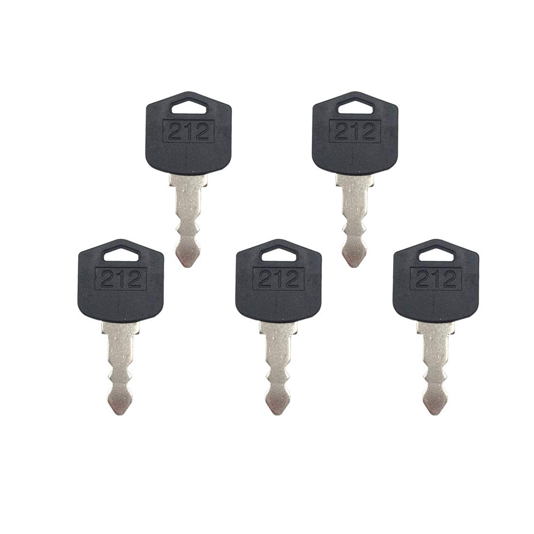 5 Pcs D554212 Ignition Key for Doosan Daewoo Forklift Models
