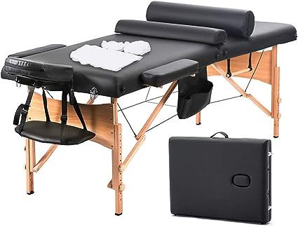Amazon.com: Camilla de masaje portátil con orificio ...