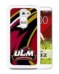 NCAA Louisiana Monroe Warhawks 5 White Hard Shell Phone Case For LG G2