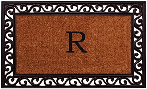 Home More 100061830R Rembrandt Monogram Doormat Letter R