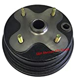QUALITY FRONT Brake Drum Hub for Yamaha YFM 400 Kodiak & YFM 350 Big Bear (replaces OE 3HN-25111-02-00)
