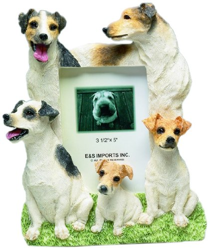 Frame Russell Jack - Jack Russell Gift Picture Frame Holds Your Favorite 3x5 Inch Photo, A Hand Painted Realistic Looking Jack Russell Family Surrounding Your Photo. This Beautifully Crafted Frame is A Unique Accent to Any Home or Office. The Jack Russell Picture Frame Is The Perfect Gift For Jack Russell Owners And Lovers!