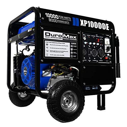DuroMax XP10000E 10,000-Watt Gas Powered Portable Generator