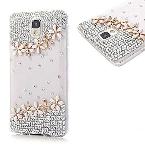 EVTECH(TM) 3D Handmade Fashion Crystal Rhinestone Bling Case Cover Hard Case Clear(100% Handcrafted) (Samsung Galaxy Note Edge)