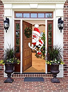 Amazon.com : Christmas Front Door Decor - Santa and ...