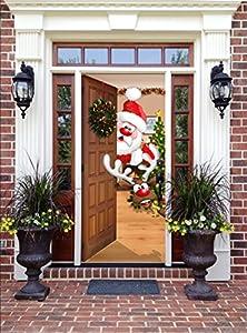 Amazon Com Christmas Front Door Decor Santa And