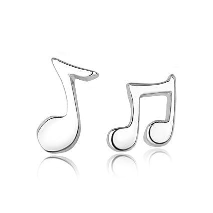 Amazon com : Acxico Asymmetrical Music symbols Stud Earrings