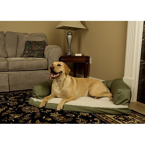 MidWest Quiet Time e'Sensuals Bolstered Orthopedic Dog Bed Sofa 36 Inches by 54 Inches in - Bed Orthopedic Sofa Bolstered