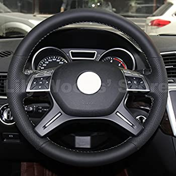 Genuine Leather Steering Wheel Cover For Mercedes Benz GL350 BlueTEC GL450 4MATIC GL550