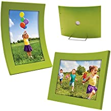 """4"""" x 6"""" Curved Wood Picture Frame (Green)"""