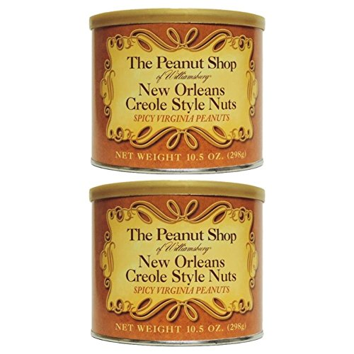 The Peanut Shop of Williamsburg New Orleans Creole Style Nuts, 10.5-Ounce (Pack of 2)
