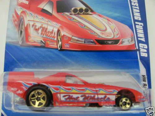 Hot Wheels 2010 Ford Mustang Funny Car HW Racing 10/10 RED #158