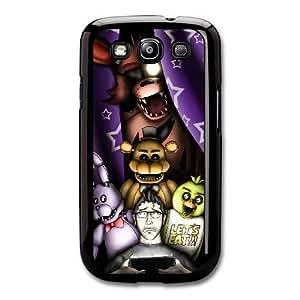 Duro Snap-On protectora funda por Samsung Galaxy S3 Negro [DHGDHJGJK4297] CUSTOM cinco noches en FREDDY'S TEMA Samsung Galaxy S3 funda