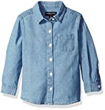 French Toast Girls' Long Sleeve Chambray Shirt
