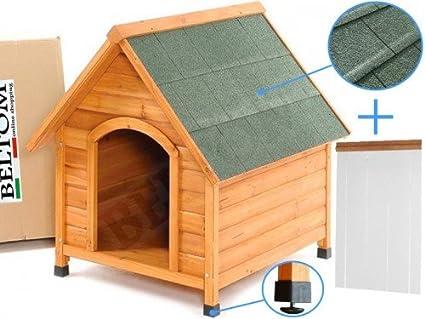 Beltom De Madera Perrera Casa del Perro Refugio Small/pequeño + PVC Carpa/Puerta