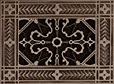 """Decorative Grille, Vent Cover, or Return Air Register. Made of Urethane Resin to fit over a 4''x6'' duct or opening. Total size of vent is 6""""x8''x3/8'', for wall and ceiling grilles (not for floor use)"""