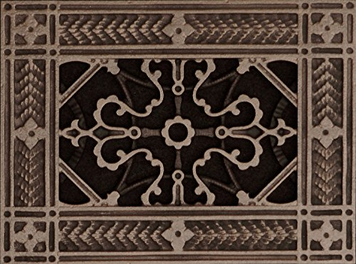 """Decorative Grille, Vent Cover, or Return Air Register. Made of Urethane Resin to fit over a 4'x6' duct or opening. Total size of vent is 6""""x8'x3/8', for wall and ceiling grilles (not for floor use)"""