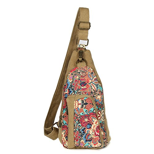 (Black Butterfly Womens Canvas Chest Bag Chest Pack Inclined Shoulder Bag,d)