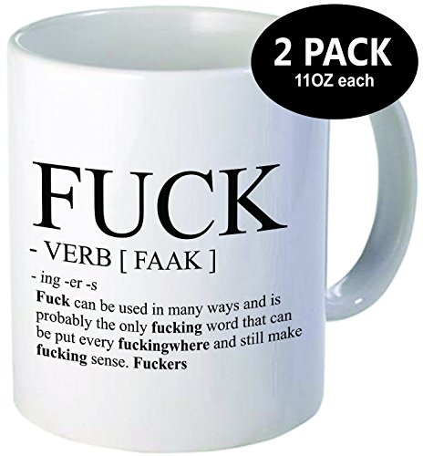 2-PACK-The-F-word-and-verb-definition-Perfect-for-birthday-men-women-present-for-him-her-sister-brother-wife-husband-or-friend-Best-funny-gift-11OZ-Coffee-Mug