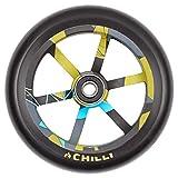 Chilli Pro Scooter Wheels 120mm Urethane - Urban Jungle Pro Scooter Replacement Wheels - Pro Scooters Wheels & ABEC 9 Bearings w/Aluminum Hubs - Freestyle Stunt Scooter Wheel - (1 Single Wheel)