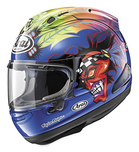 Arai Corsair V Graphic Aoyama Corsa Full Face Motorcycle Helmet Large New
