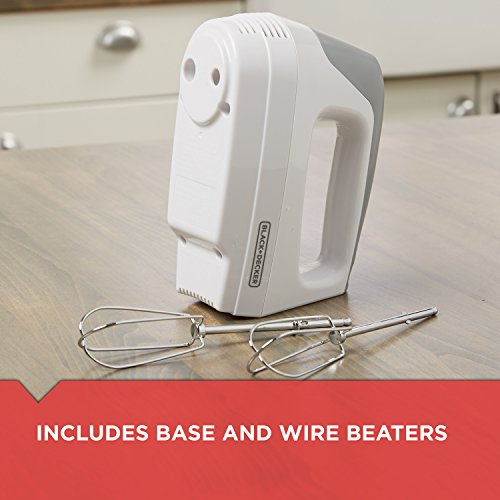 BLACK+DECKER Lightweight Hand Mixer, White,  MX1500W