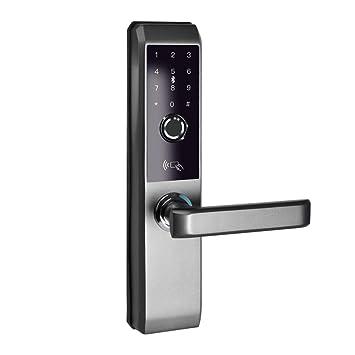 Cerradura De Puerta Elegante Biométrica Huella Digital Cerradura De Puerta Código De Teclado Sin Llave Entrada