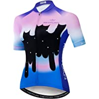 Uriah Women's Cycling Jersey Short Sleeve with Rear Zippered Bag Reflective