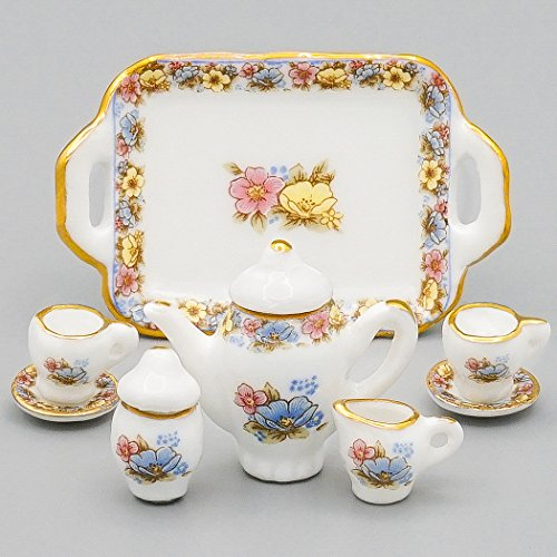 Odoria 1:12 Miniature 8PCS Porcelain Chintz Tea Cup for sale  Delivered anywhere in USA