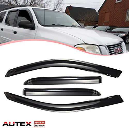 AUTEX Tape-on Window Deflectors Compatible with Buick Rainier 2004-2007 Compatible with Chevy Trailblazer/GMC Envoy 2002-2009 Compatible with Isuzu Ascender 2004-2008 Wiondow Visor