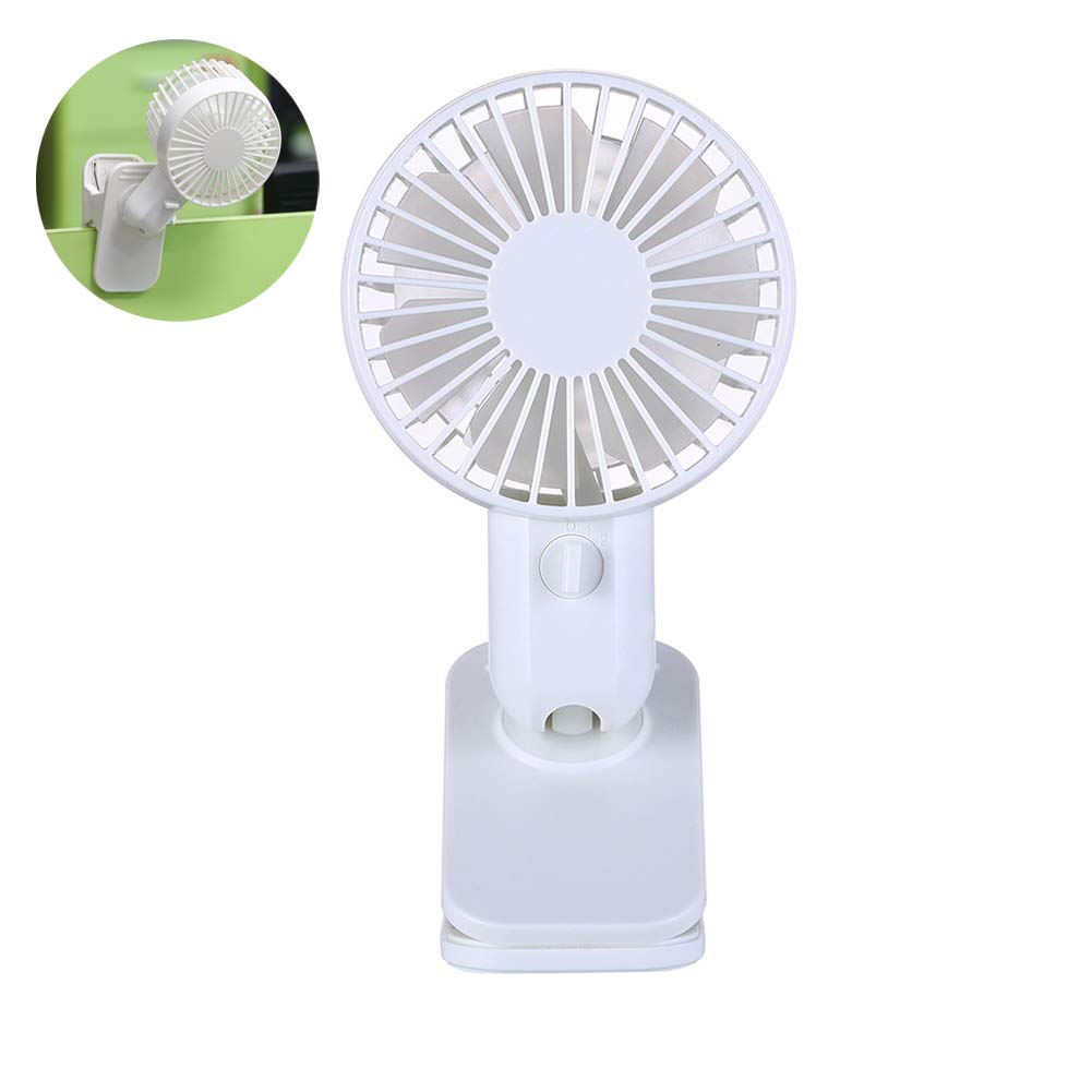 Personal USB Desk Fan with Clip, Ayans Portable Mini Table Fan with Adjustable Head, Strong Wind Cooling Quiet Fans for Home Office Desktop Bedside Student Dorm by Ayans